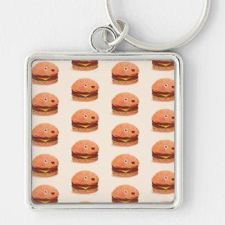 "CUTE HAPPY Large (2.00"") Premium Square Keychain"