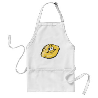 cute happy lemon adult apron