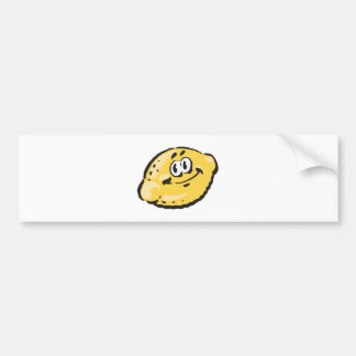 cute happy lemon bumper sticker