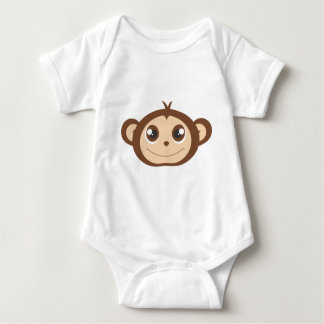 Cute Happy Monkey Cartoon Baby Bodysuit