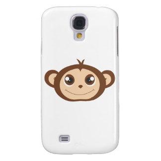 Cute Happy Monkey Cartoon Galaxy S4 Cover