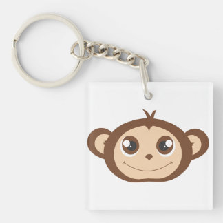 Cute Happy Monkey Cartoon Keychain
