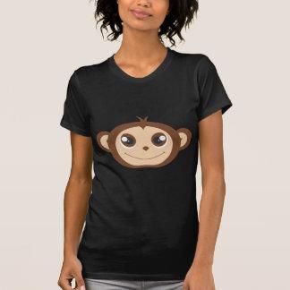 Cute Happy Monkey Cartoon T-Shirt