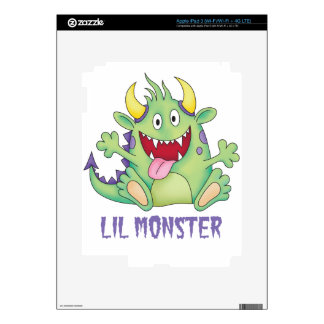 cute happy monster decals for iPad 3