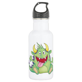 cute happy monster stainless steel water bottle