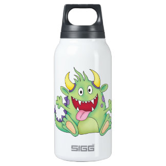 cute happy monster thermos bottle