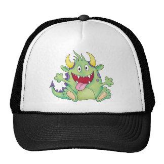 cute happy monster trucker hat