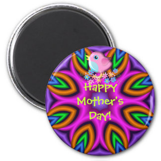 Cute Happy Mother's Day magnet with Baby Bird