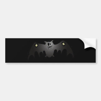 CUTE & HAPPY PATCHY BAT BUMPER STICKER