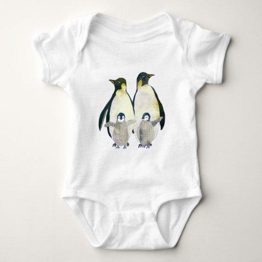 Cute Happy Penguin Family Baby Baby Bodysuit