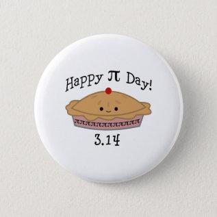 Cute Happy Pi Day! Button at Zazzle