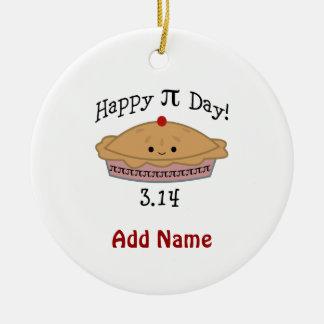 Cute Happy Pi Day! Ceramic Ornament