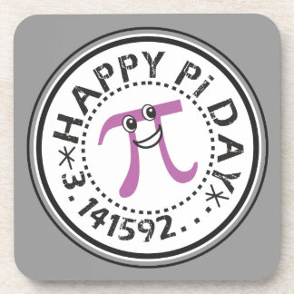 Cute Happy Pi Day Drink Coasters