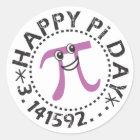 Cute Happy Pi Day © - Funny Pi Day Stickers