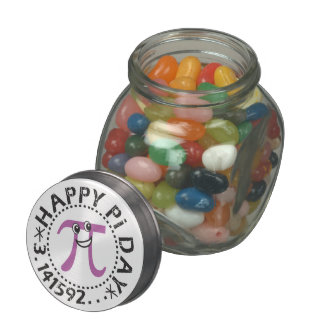 Cute Happy Pi Day - Includes Candy! Glass Jar