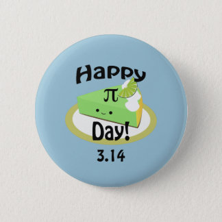 Cute Happy Pi Day Pinback Button