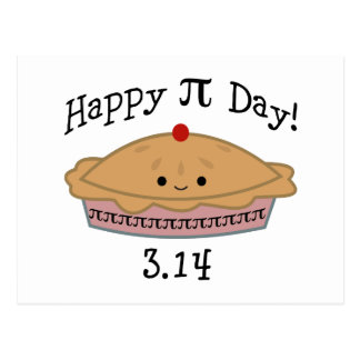 Cute Happy Pi Day! Postcard