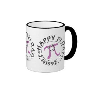 Cute Happy Pi Day Ringer Coffee Mug