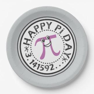 Cute Happy Pi Day 9 Inch Paper Plate