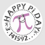 Cute Happy Pi Day Stickers - Funny Pi Day Gifts