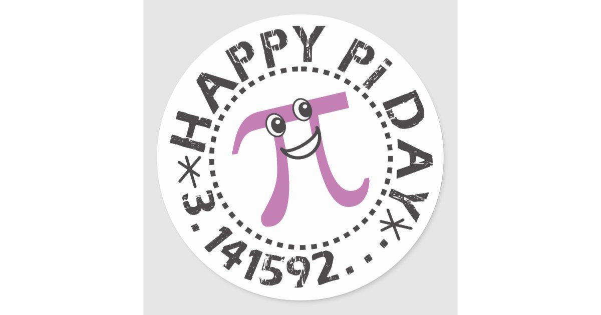 Pi Day: Cute Happy Pi Day © Stickers - Funny Pi Day Gifts