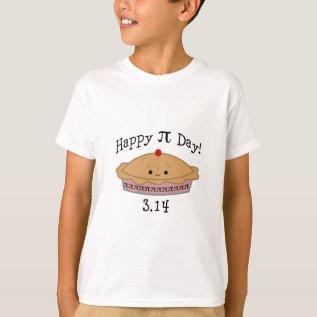 Cute Happy Pi Day! T-shirt at Zazzle