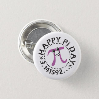 Cute Happy Pi Day © - Wearable Pi Day Gift Pinback Button
