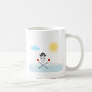 Cute Happy Pirate Skull With Maracas Coffee Mug