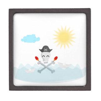 Cute Happy Pirate Skull With Maracas Gift Box