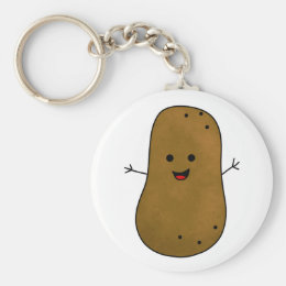 Cute Happy Potato Keychain