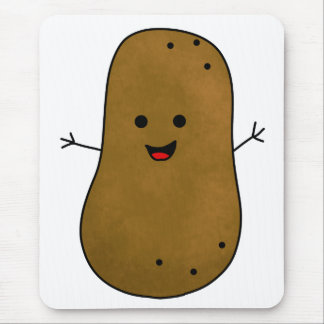 Cute Happy Potato Mouse Pad