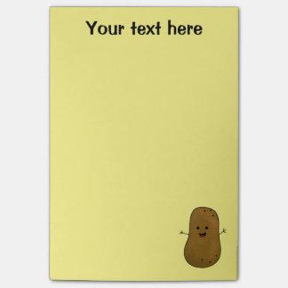 Cute Happy Potato Personalized Post-it Notes