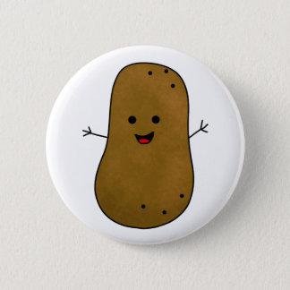 Cute Happy Potato Pinback Button