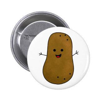 Cute Happy Potato Pinback Button