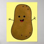 Cute Happy Potato Poster