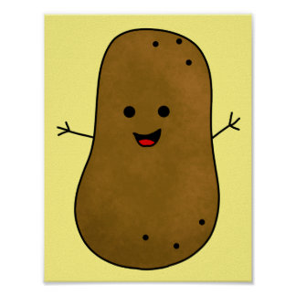 Cute Happy Potato Poster