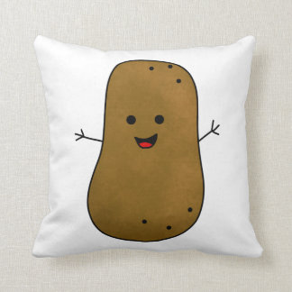 Cute Happy Potato Throw Pillow