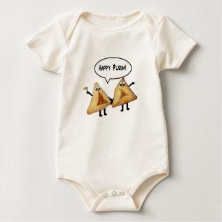 Cute Happy Purim Hamantaschen Baby Bodysuit