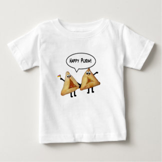 Cute Happy Purim Hamantaschen Baby T-Shirt