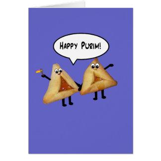 Cute Happy Purim Hamantaschen Card