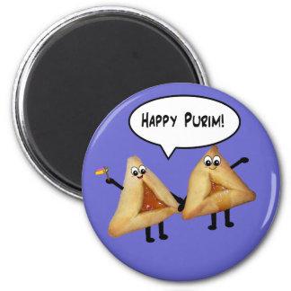 Cute Happy Purim Hamantaschen Magnet