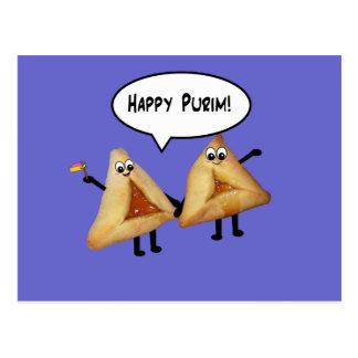 Cute Happy Purim Hamantaschen Postcard