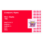 Cute Happy Purple Monster Business Card Templates