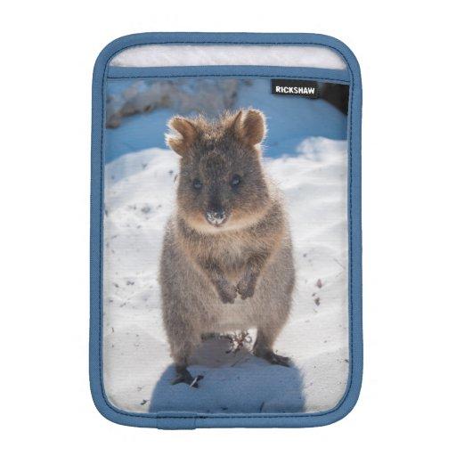 Cute & Happy Quokka on the Beach in Australia iPad Mini Sleeve