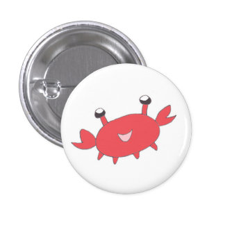 Cute Happy Red Crab Buttons