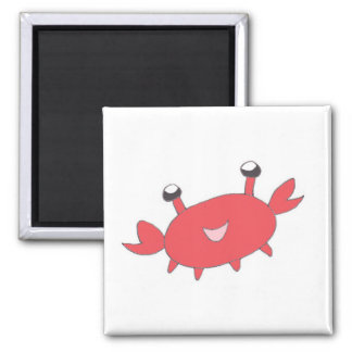 Cute Happy Red Crab Refrigerator Magnets