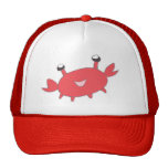 Cute Happy Red Crab Trucker Hat