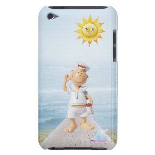 Cute Happy Sailor on Boardwalk Barely There iPod Case