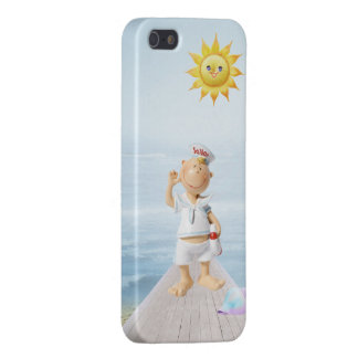 Cute Happy Sailor on Boardwalk Case For iPhone SE/5/5s