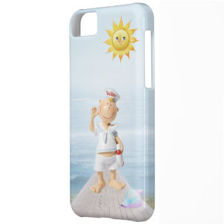 Cute Happy Sailor on Boardwalk Cover For iPhone 5C